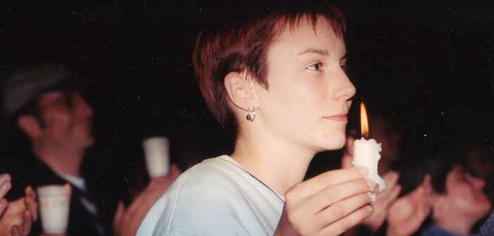 Candlelight vigil for Matthew Shepard, 1998