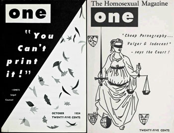 one magazine, gay, homophile marriage, history, queer, banned, legal, court, obscene, supreme court
