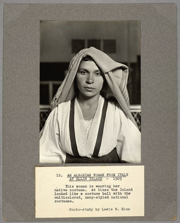 Lewis Hine, Albanian Woman from Italy