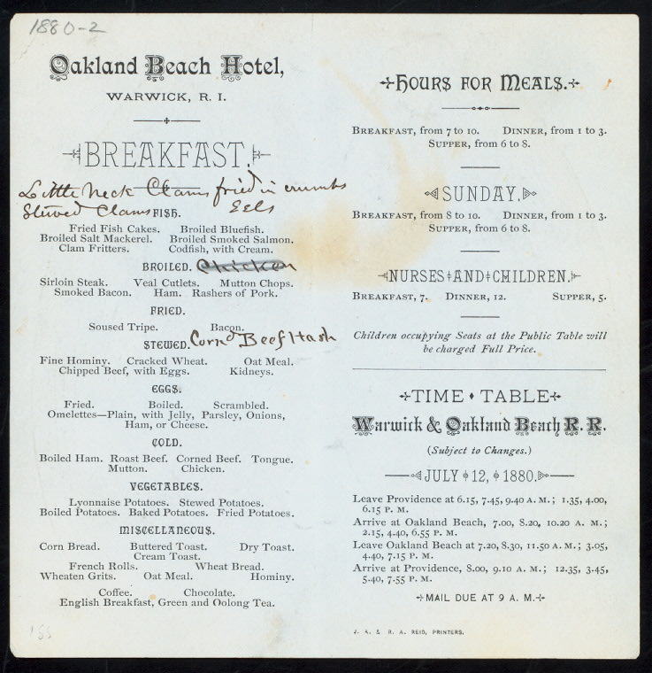 Oakland Beach Hotel, Warwick, RI 1880