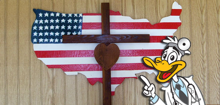 religious right, god bless, america, crucifix, heartland, quack, doctor