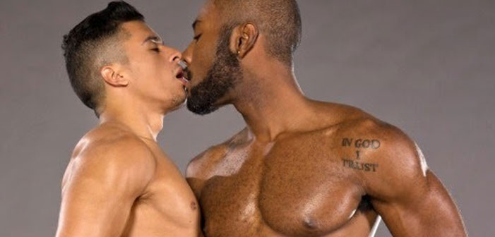 gay, bareback, porn, kiss, black, asian, men