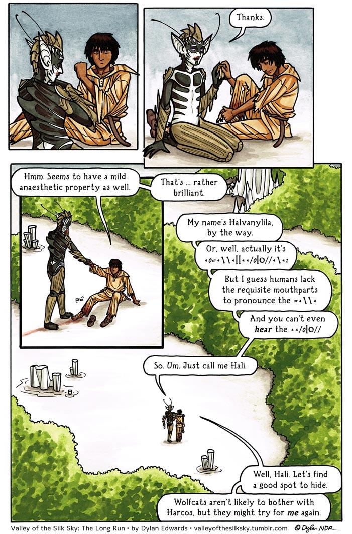 The Valley of the Silk Sky LGBTQ sci-fi webcomic