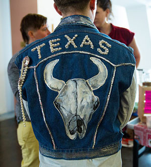 Y'all Come Back, South, Southern, queers, LGBT, play, performance, theatre, Texas, jean jacket, rhinestones