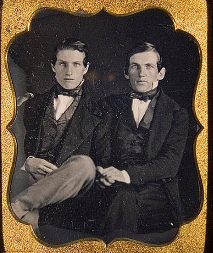 same-sex, couple, gay, men, male, partners, old timey, historic