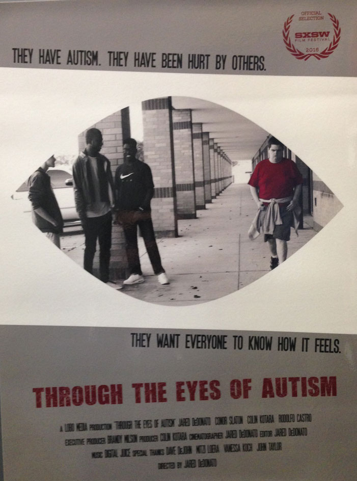 sxsw, 2016, movie poster, film, festival, through the eyes of autism