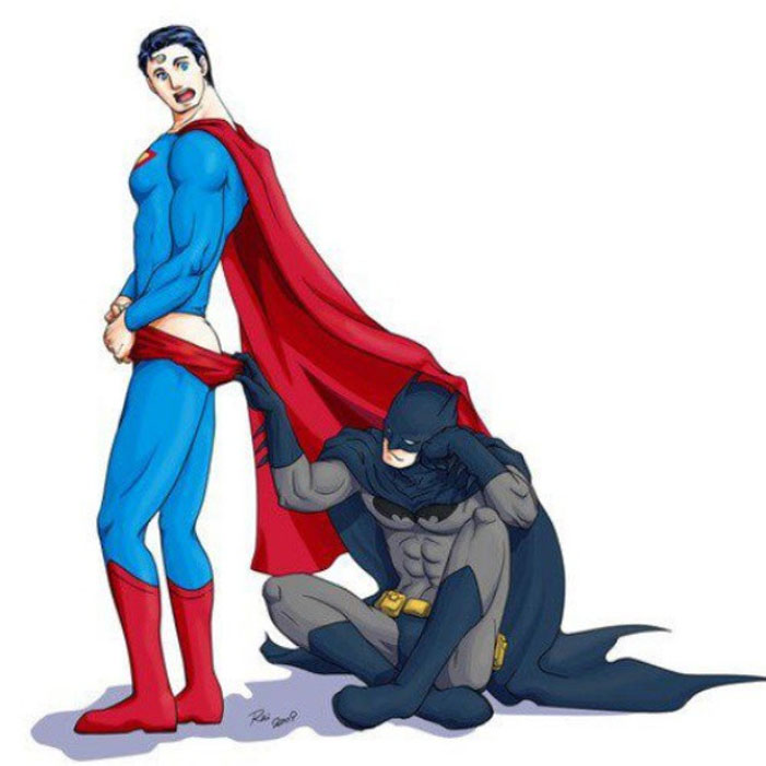 Superman, Batman, gay, superheroes, kiss, love, romance, shipping, comics, queer, homosexual, homo, romance, butt