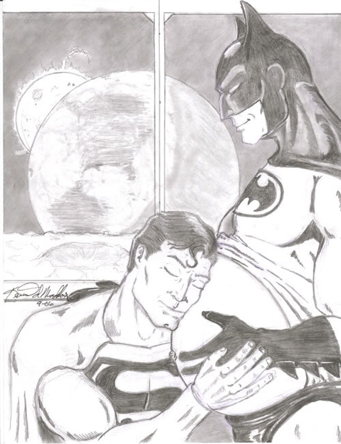 Superman, Batman, gay, superheroes, kiss, love, romance, shipping, comics, queer, homosexual, homo, romance, pregnant