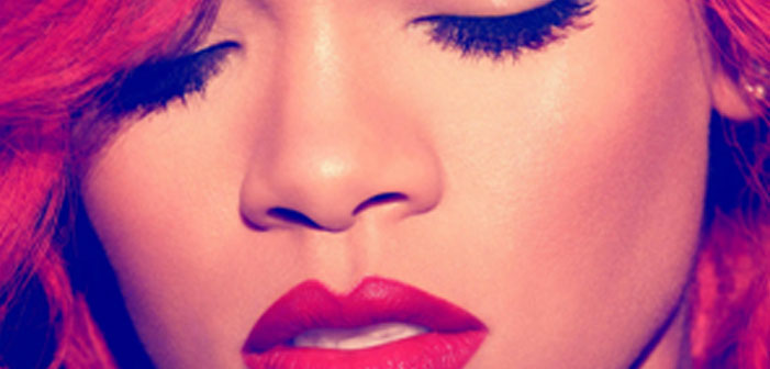 Rihanna, pop, diva, face, loud, face, red hair, red lips, RiRi