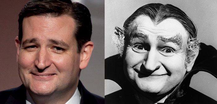 Ted Cruz, Republican, GOP, presidential candidate, Grandpa Munster