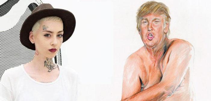 Illma Gore, Donald Trump, nude, drawing, Make America Great Again, penis, micropenis
