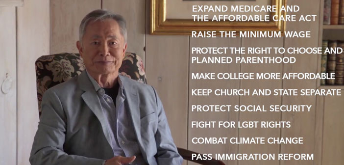 George Takei, election, video, Democrat, #VoteBlueNoMatterWho