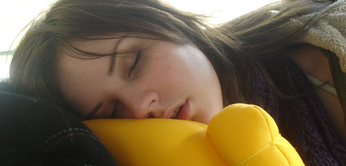 sleeping, asleep, sleep, woman, girl, teenager, pillow, yellow, white