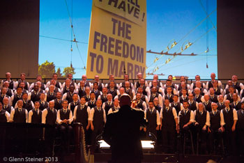 I Am Harvey Milk, San Francisco Gay Men's Chorus, SFGMC, choir, singing, freedom to marry, protest, concert