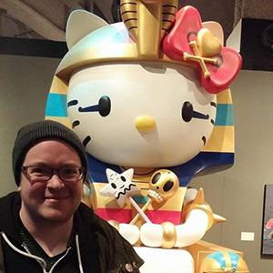 Blake Chamberlain, transgender, writer, Facebook, Hello Kitty, rainbow, pharoah