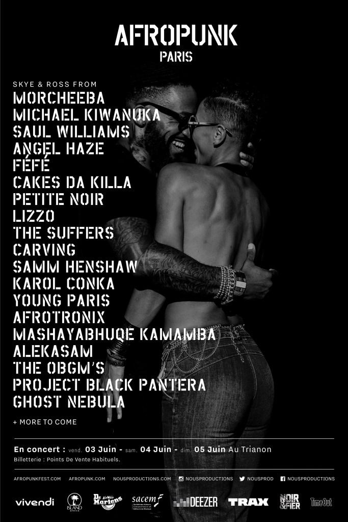 AfroPunk Paris 2016, Saul Williams, Cakes Da Killa, Angel Haze