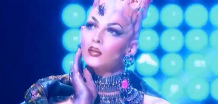 Violet Chachki, RuPaul's Drag Race, drag queen, season eight, coronation gown, dress, The House of Canney