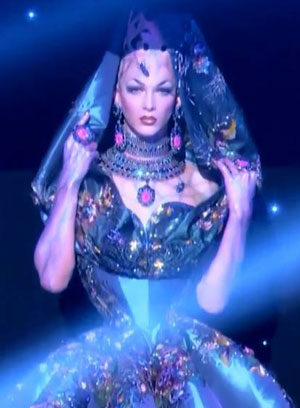 Violet Chachki, RuPaul's Drag Race, drag queen, season eight, coronation gown, dress