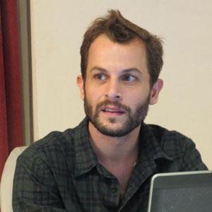 Robbie Corey-Boulet, white, guy, man, beard, otter, laptop