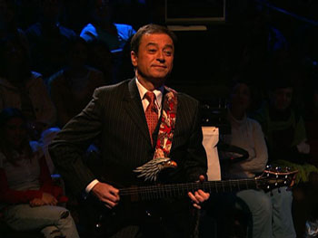 Andras Simonyi, The Colbert Report, Comedy Central, electric guitar, eagle