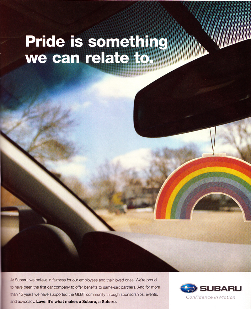 Subaru gay ads, Subaru, Gay, Lesbian, Lesbaru, Advertising