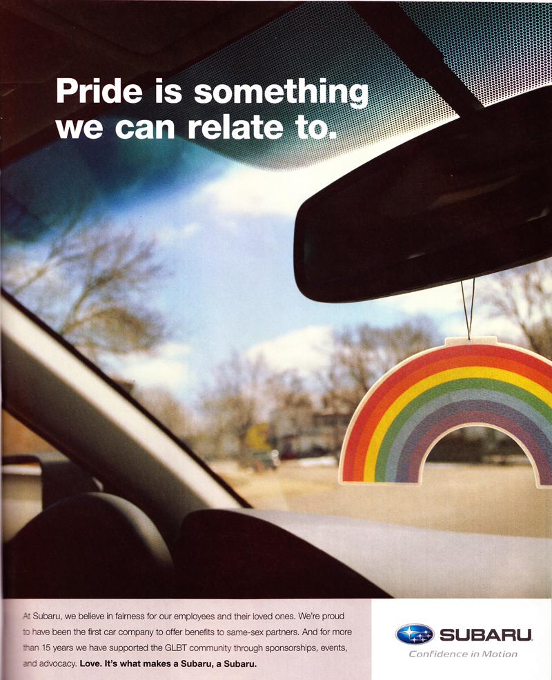 Subaru gay ads, Subaru, Gay, Lesbian, Lesbaru, Advertising
