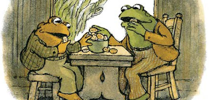 Frog and Toad, children's book, Arnold Lobel, gay, illustration, drawing, cookies, visit, gift