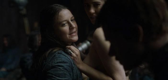 Game of Thrones, lesbian, Yara Greyjoy, kiss