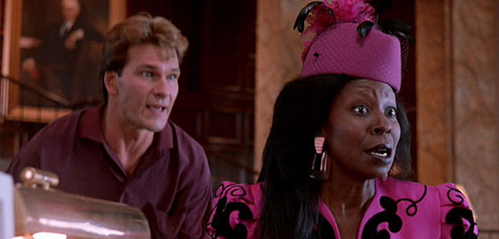 Patrick Swayze, Whoopi Goldberg, Ghost, bank, scene