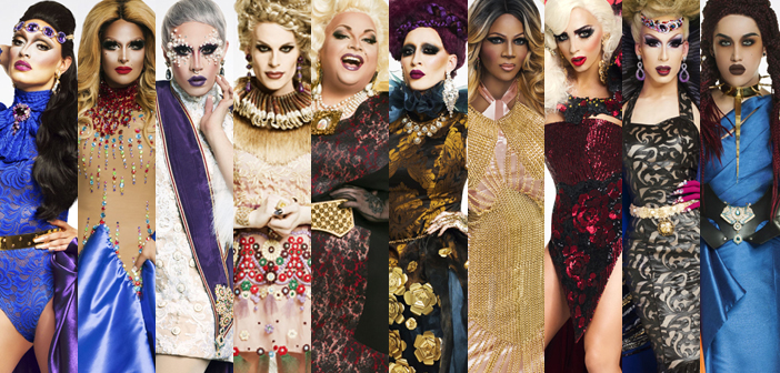 Adore Delano, Alaska Thunderfuck, Alyssa Edwards, Coco Montrese, Detox, Ginger Minj, Katya, Phi Phi O'Hara, Roxxxy Andrews, Tatiana, RuPaul's Drag Race, All Stars 2, drag queen, LOGO TV, gay