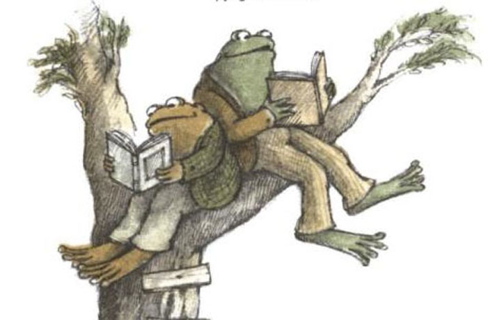 Frog and Toad, children's book, Arnold Lobel, gay, illustration, drawing, reading