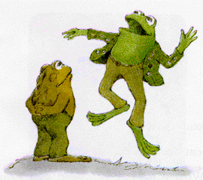 Frog and Toad, children's book, Arnold Lobel, gay, illustration, drawing, shirtless, prancing, skipping, wonder