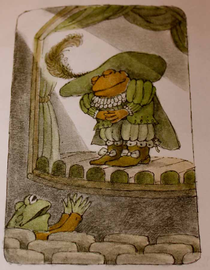 Frog and Toad, children's book, Arnold Lobel, gay, illustration, drawing, stage, play, costume, theatre