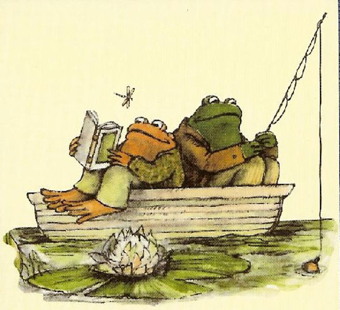 Frog and Toad, children's book, Arnold Lobel, gay, illustration, drawing, fishing, boat, dragonfly