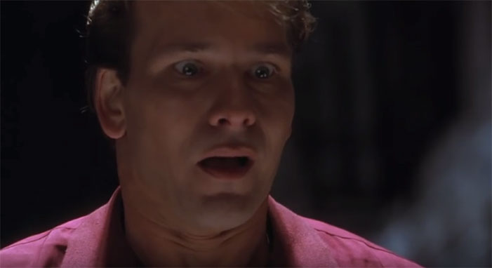 Patrick Swayze, ghost, weird face, expression, death