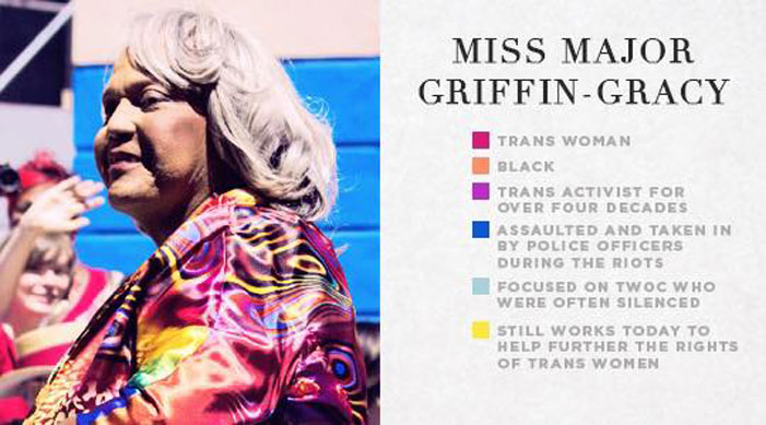 stonewall veterans, survivors, pictures, photos, pic, infographics, LGBT, gay, lesbian, trans, sex worker, Miss Major Griffin Gracy
