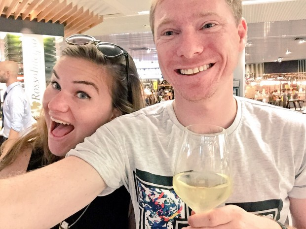 Make life more exciting by hanging out at the airport bar with friends xx