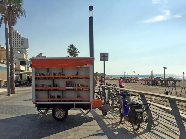 tel aviv, book, beach, israel, travel