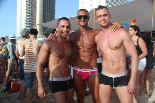 israel, tel aviv, underwear, beach