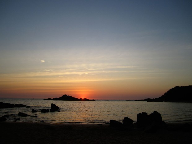Om Beach, Gokarna, India, sunset