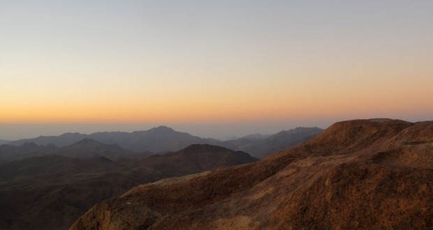 Mount Sinai, Egypt, sunrise