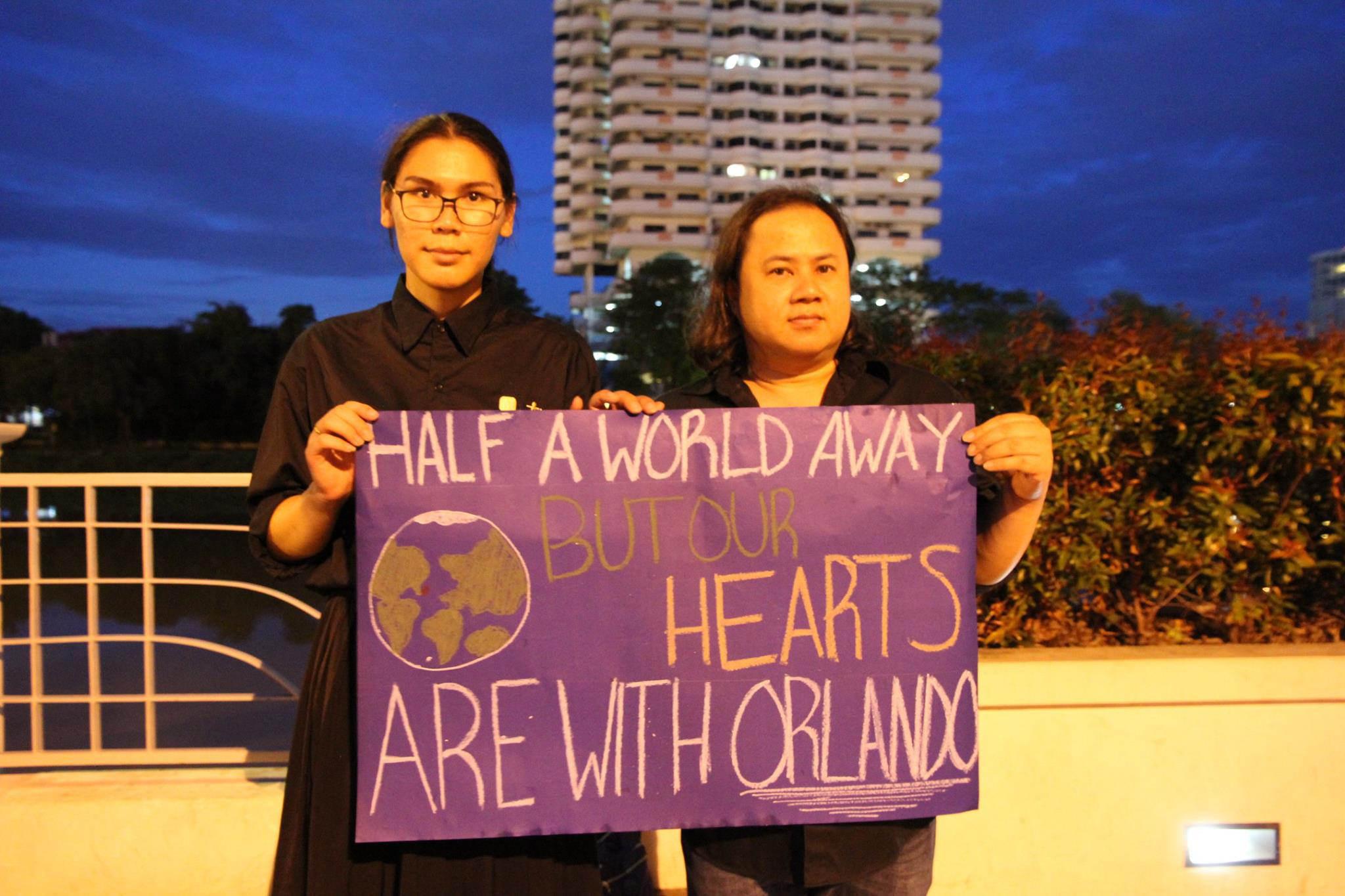 Chang Mai, Thailand, Orlando Shooting, Vigil