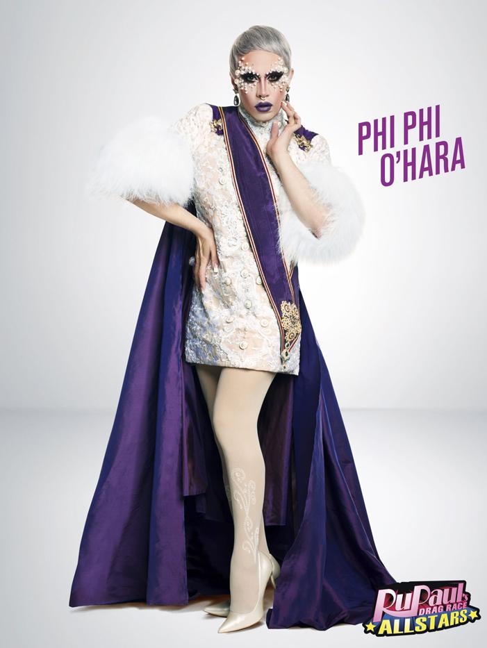 Phi Phi O'Hara RuPaul's Drag Race, All Stars 2, drag queen, LOGO TV, gay