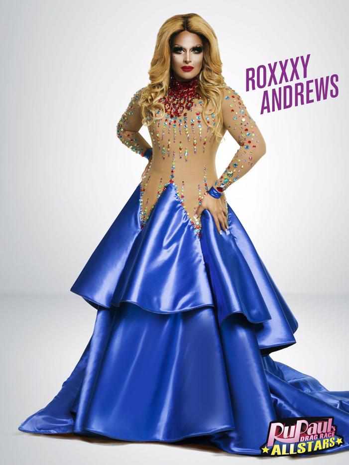 Roxxxy Andrews, RuPaul's Drag Race, All Stars 2, drag queen, LOGO TV, gay