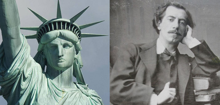 Statue of Liberty, Jean-Charles Bartholdi, sculptor, man, sculptor's brother