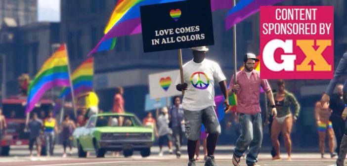 Grand Theft Auto, GTA V, GTA 5, pride parade, Los Santos Pride, Stockholm Pride, LGBT, LGBTQ, Pride, Pride parade, gay