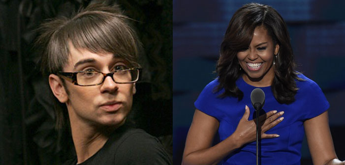 Christian Siriano, Michelle Obama, Democratic National Convention, DNC, fashion, designer, gay, hot tranny mess, transphobe, First Lady, DNC