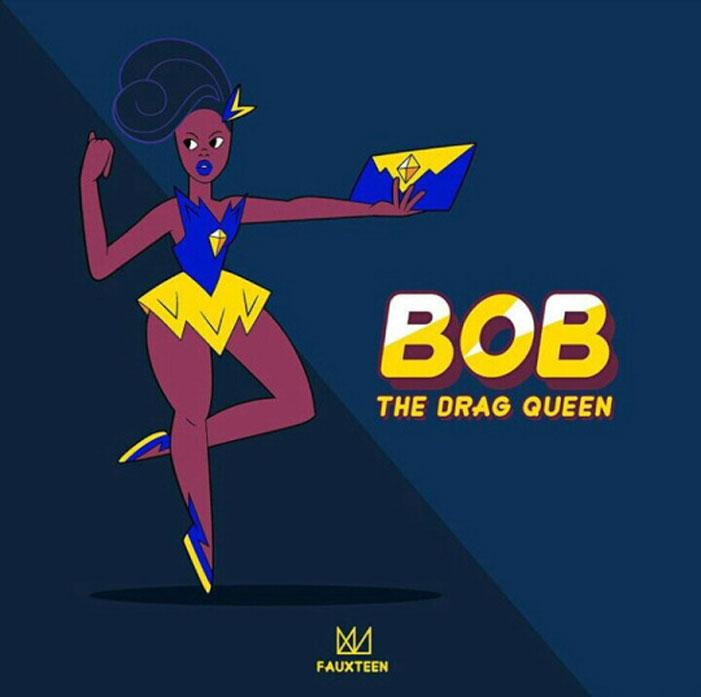 Bob The Drag Queen, RuPaul's Drag Race, Steven Universe, cartoon, illustration. art, drag queens, Fauxteen