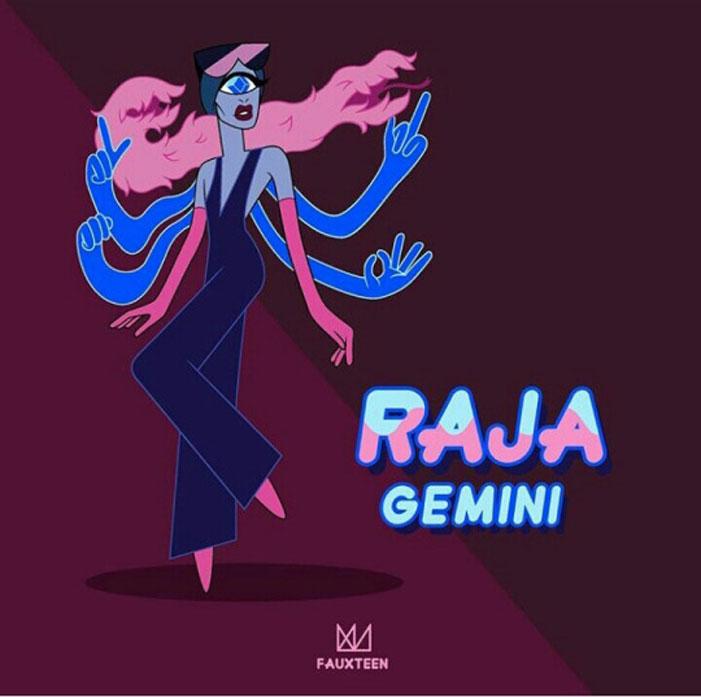 Raja Gemini, RuPaul's Drag Race, Steven Universe, cartoon, illustration. art, drag queens, Fauxteen