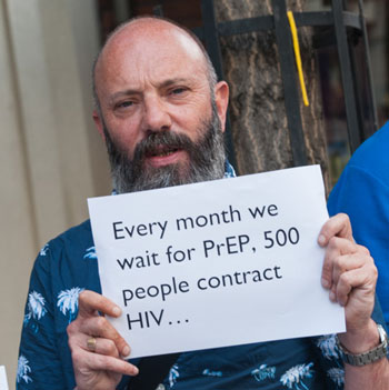 PrEP, human rights, HIV, AIDS, HIV/AIDS, AIDS/HIV, healthcare, gay, men, protest, health, UK, England, U.K. NHS, N.H.S., access